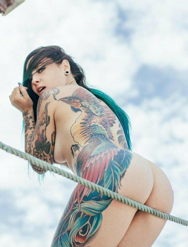 Lewd Scorpio Blue Bikini Kill Sexy Beach Bunny Paradise Tattoo Girls Pics 1